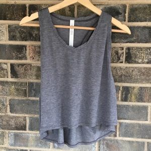 Lululemon crop top gray size 8